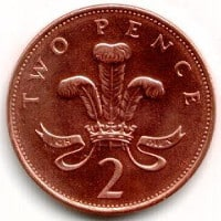 A Wren weighs about the same as a two pence coin